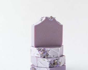 Lavender Sparkle Soap with Essential oils and Goats Milk