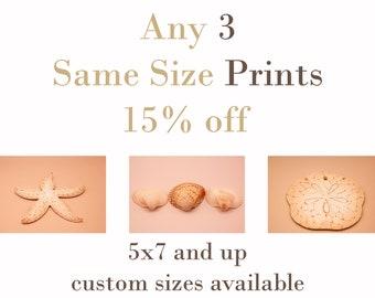 Custom Set of 3 PRINTS - SAME SIZE - 15% Off
