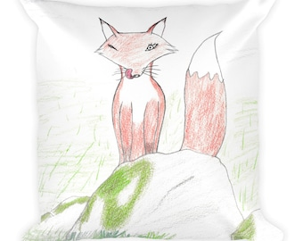 The Foxy Fox by Naomi A.R. Square Pillow