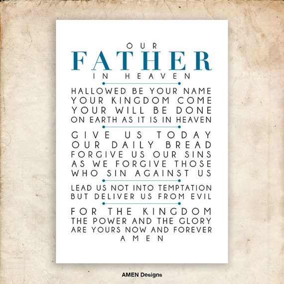 Gutsy image with regard to the lord's prayer printable