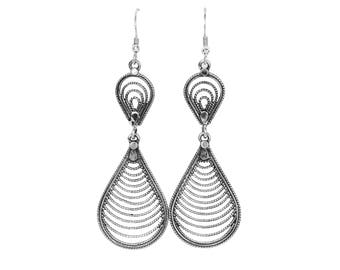 sterling silver earrings; modern; oxidized; everyday; delicate; 925 pure;