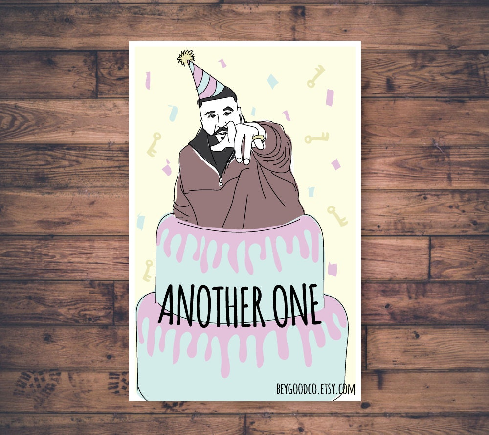 Dj khaled another one printable birthday card funny zoom m4hsunfo Gallery