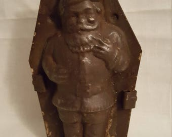 Vintage Santa Chocolate Candy Mold