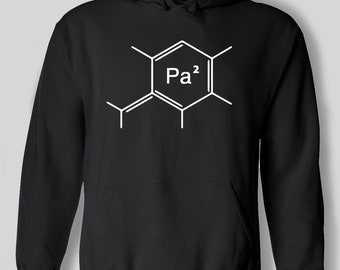 Pa Papa Periodic Table Funny Chemistry Element Science Geek Father's Day Birthday Gift Dad Father BF Present Hoodie Mens Hooded Jumper