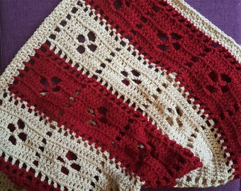 Two colour baby blanket, call the midwife blanket
