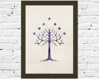 0091 Lord of the Rings Tree of Gondor Poster A3 Art Print – Any Size Available