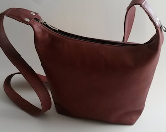 Leather Brown Red Shoulder bag