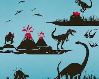 Wall decals DINOSAUR WORLD T-Rex and dino's boys & nursery decor by Decals Murals