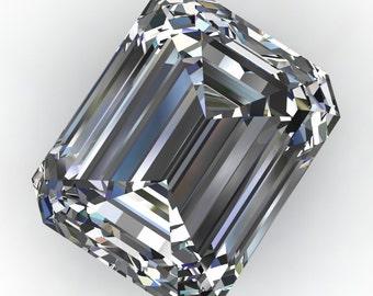 ZAYA moissanite - emerald cut moissanite, loose stones