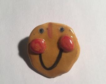 Smiley Guy Ceramic Pin