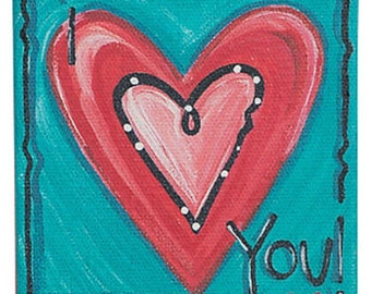 I Love You Canvas Wall Art