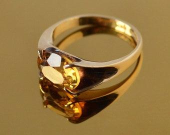 Gold Ring | Topaz Ring | Gold Topaz Ring | Orange Topaz Ring | Vintage Topaz Ring | Vintage Gold Ring | Antique Gold Ring | Antique Ring