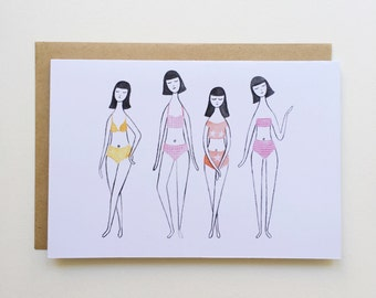 Bikini Girls - Greeting Card