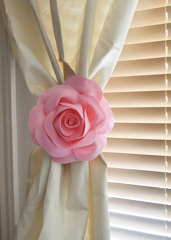 tiebacks backs curtain tie one listing flower il rose