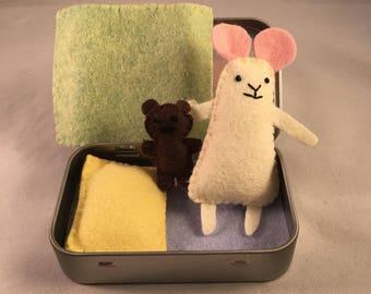 Tiny Tin Mouse - Pastel Colours