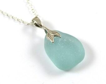 Collier pendentif lumière Aquamarine Blue Sea sirène SARAH