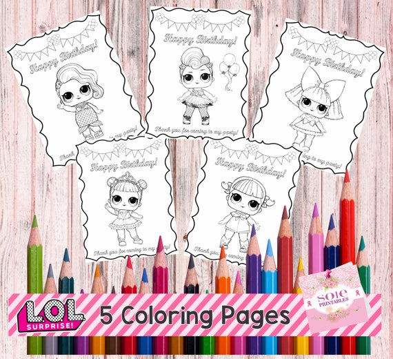 NEW LOL SURPRISE Coloring Pages Instant Download