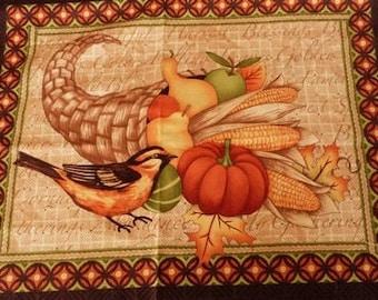 Fabric patchwork/decorating 1 bird and fruit 4 tile