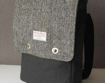 Rucksack Messenger Backpack with Harris Tweed option