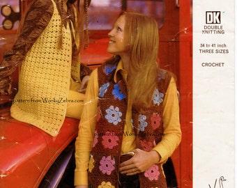 2 Vintage Crochet Waistcoat or Vests Patterns PDF 739 from WonkyZebra