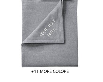 CUSTOM TEXT Sweatshirt Blanket | Custom Fleece Blanket, Gameday Blanket, Sweatshirt Blanket, Custom Gift, Personalized Blanket, Custom Throw