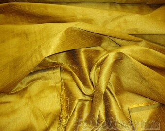Golden Rod Shantung Dupioni Faux Silk fabric per yard