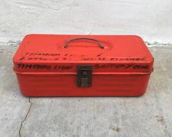 Orange Metal Tackle Toolbox