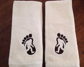 Sasquatch Bigfoot Hand Towel Set