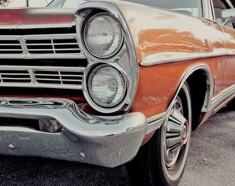 Ford Galaxie Car Photography, Automotive, Auto Dealer, Muscle, Sports Car, Mechanic, Boys Room, Garage, Dealership Art