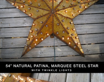 HUGE 54 Inch Rusty Marquee Star