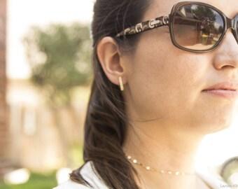 Small Bar Post Stud Earrings in Gold OR Silver, Gold Bar Post Stud Earrings, Bar Gold Studs, Everyday Wear Earrings, Gift for Her