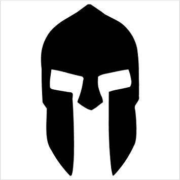 Pack Of 3 Spartan Helmet Style 2 Stencils Made From 4 Ply
