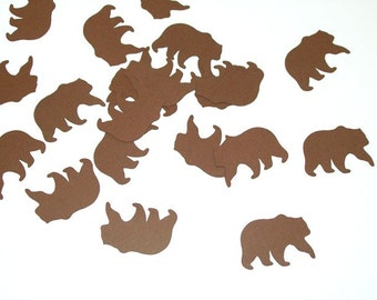 Bear Confetti/ Happy Birthday/ Birthday/ Table Confetti/ Party Supplies/ Birthday/ / 100 Pieces