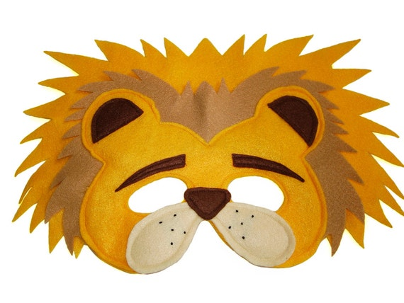 childrens safari animal lion felt mask - Masque Lion