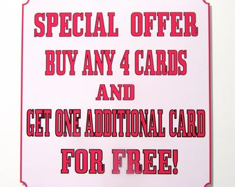 Special Offer - Buy any 4 cards and get 1 FREE!