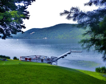 Nature Photography- Peaceful Late Afternoon by the Lake- New York, Northeastern, Travel, Summer, Fine Art Photography