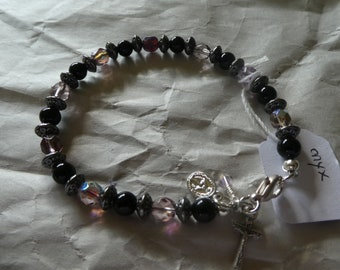 Onyx Rosary Bracelet