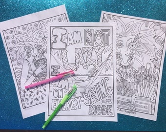 Minx Pack, coloring pages to download and print