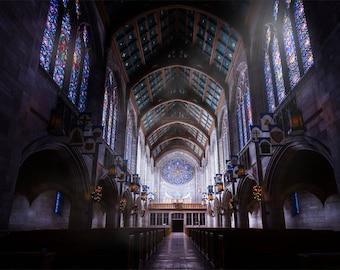 St John's Cathedral -Stained Glass -Spokane -Church -Gothic Architecture -Spokane -Washinton Art -Architectual Photography -Large Prints