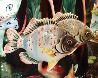 PY Sunfish Perch Fish Salt and Pepper Shakers made in Japan circa 1950s