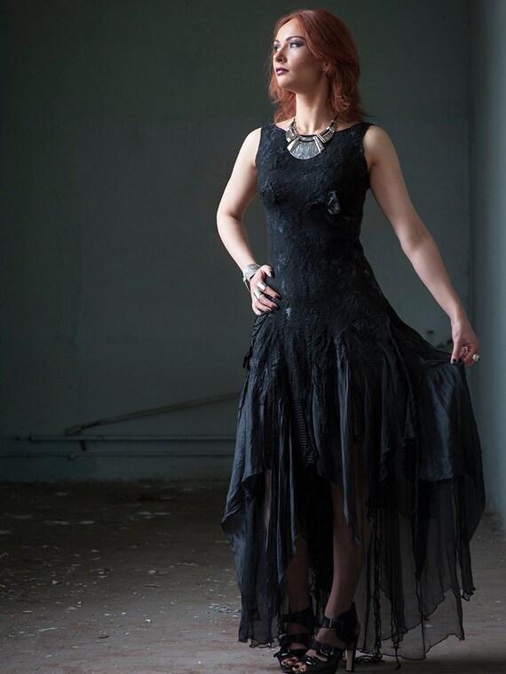 Schwarze Hochzeit Kleid Alternative Hochzeitskleid Gothic