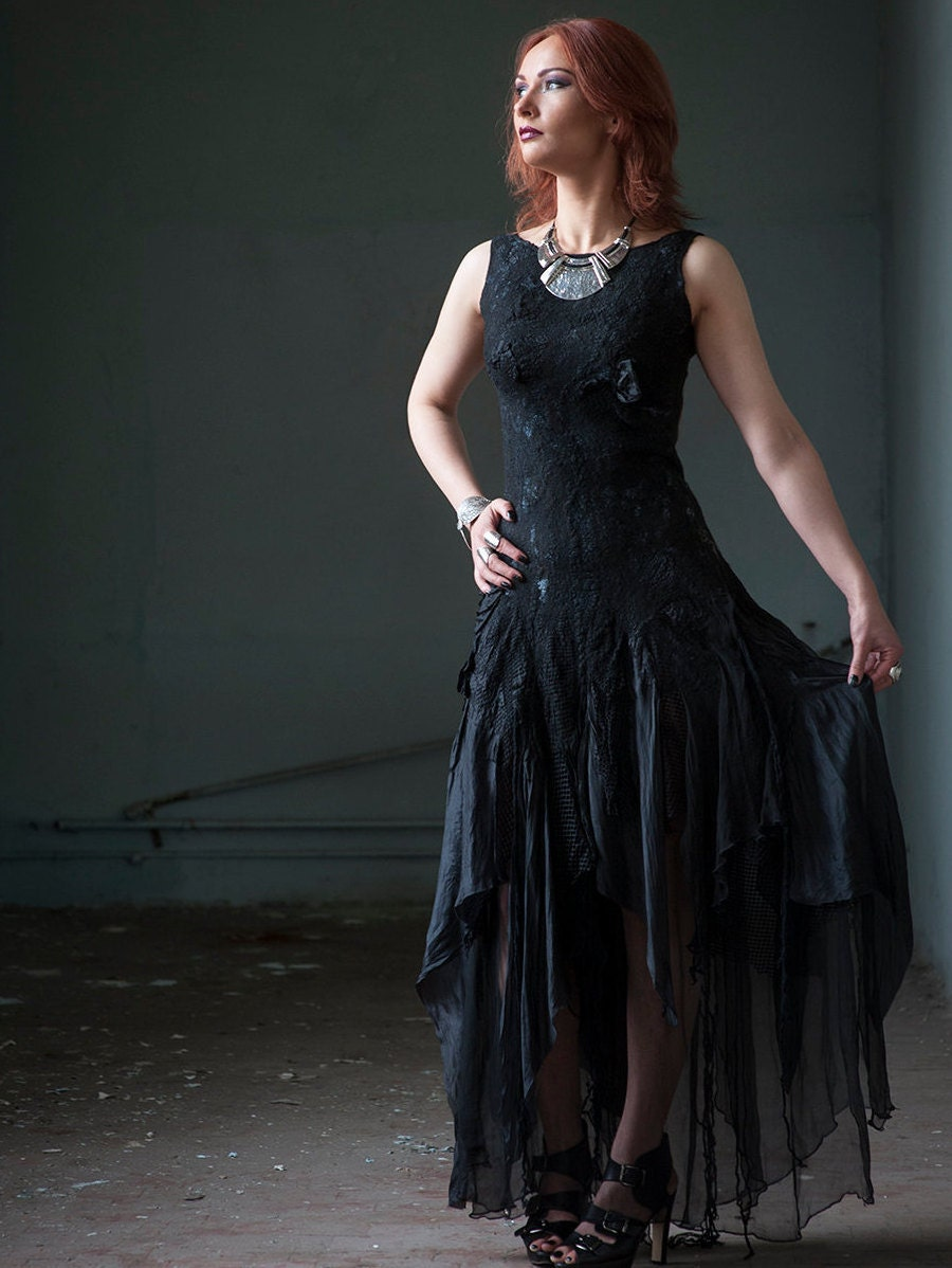 Black wedding dress alternative bridal dress gothic bridal zoom ombrellifo Image collections