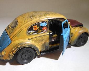 VW Bug,Volkswagon,Scale ModelCar,RatRod,Classicwrecks,Hooptie,RustedJunker,RustyCar