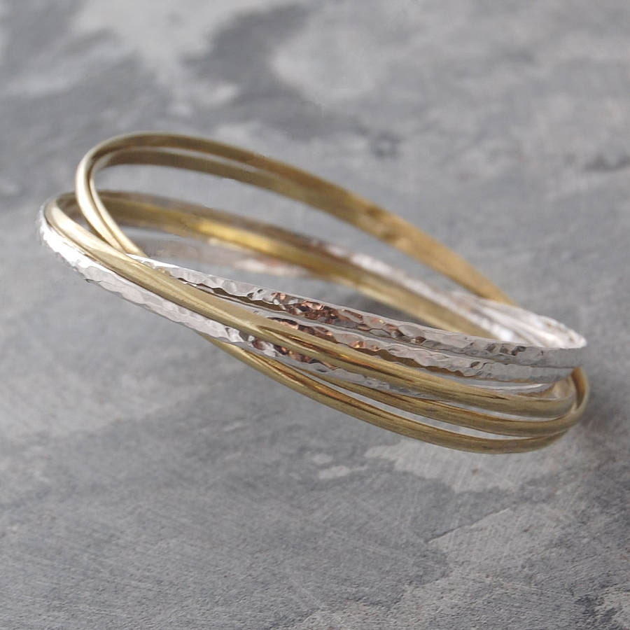 Silver Bangles Gold Bangle Stacking Bangle Wire Bangle