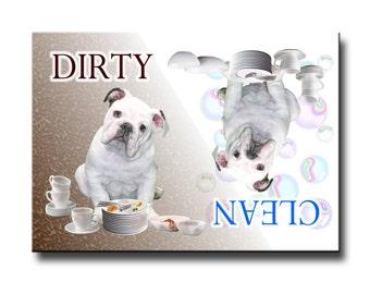 English Bulldog Clean Dirty Dishwasher Magnet No 3