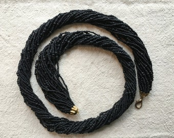 Multi strand Black Bead Necklace