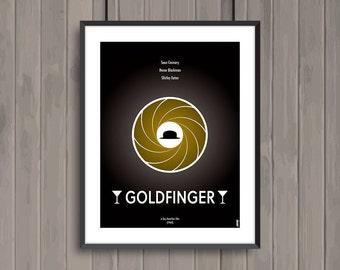 GOLDFINGER, minimalist movie poster