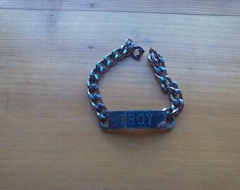 Silver ID bracelet (Troy)
