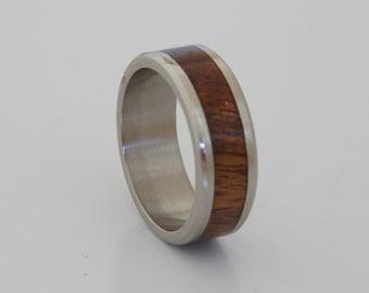 hawaiian koa ring // anniversary ring // wedding ring //mens engagement ring