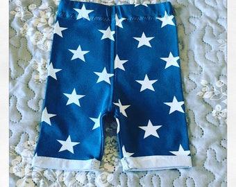 Handmade Petrol Blue Star Shorts